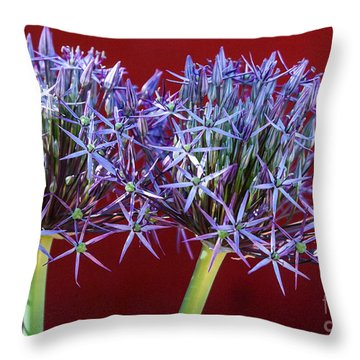 Flowering Onions Throw Pillow