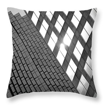 Contrasting Architecture Throw Pillow by Valentino Visentini
