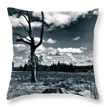 Contrasting Feelings Throw Pillow