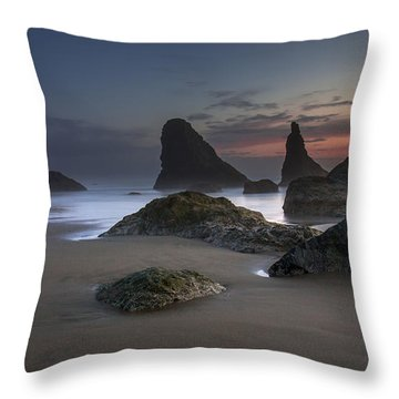 Contrasting Partners..... Bandon Oregon Throw Pillow