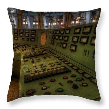 Control Room 1 Throw Pillow