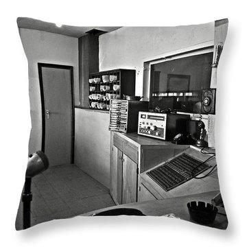 Control Room In Alcatraz Prison Throw Pillow