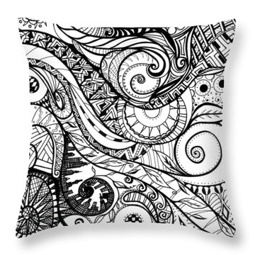 Controlled Chaos Throw Pillow by Shawna Rowe