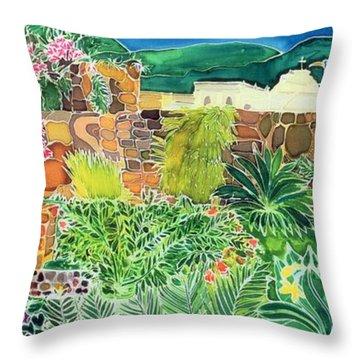 Convent Gardens Antigua Throw Pillow by Hilary Simon