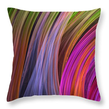 Convergence Throw Pillow by RochVanh
