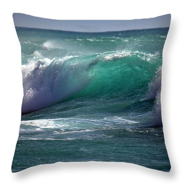 Converging Waves Throw Pillow