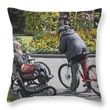 Conversation Place Belfast Ireland Throw Pillow