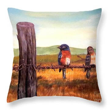 Conversation With A Fencepost Throw Pillow