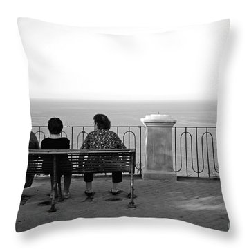 Conversations By The Sea Throw Pillow