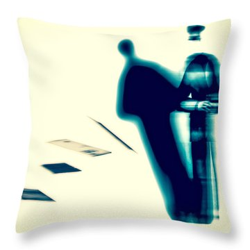 Conversations With The Postman Throw Pillow by Bob Orsillo