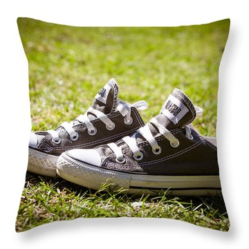 Converse Pumps Throw Pillow by Jane Rix