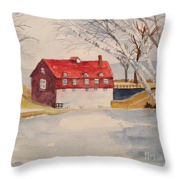 Converted Barn Throw Pillow