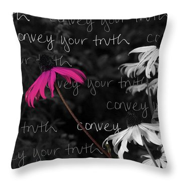 Throw Pillow featuring the photograph Convey Your Truth by Lauren Radke