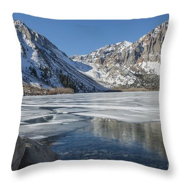 Convict Lake Morning Throw Pillow by Sandra Bronstein