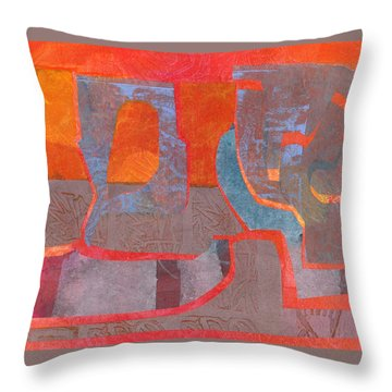 Throw Pillow featuring the mixed media Convo by Catherine Redmayne