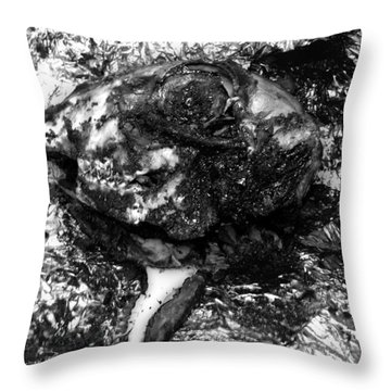 Cooked Lambs Head  Throw Pillow