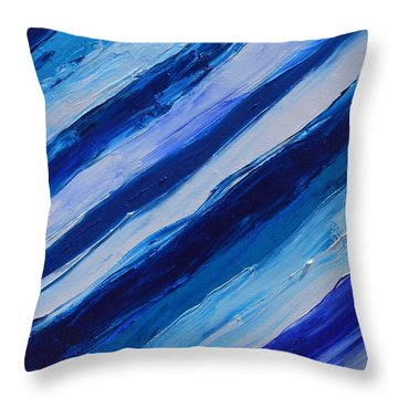 Cool Azul Throw Pillow