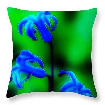 Cool Blue Throw Pillow by Thomas  MacPherson Jr