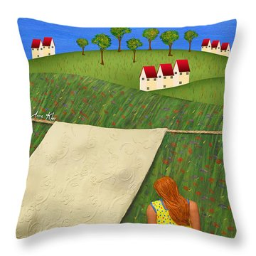 Cool Breeze Throw Pillow by Anne Klar