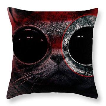 Cool Cat Painting Throw Pillow
