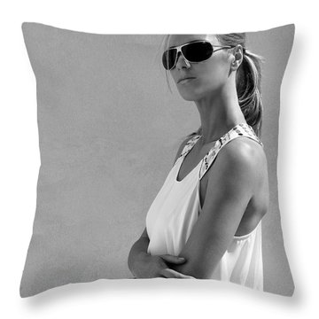 Cool Catherine Palm Springs Throw Pillow by William Dey