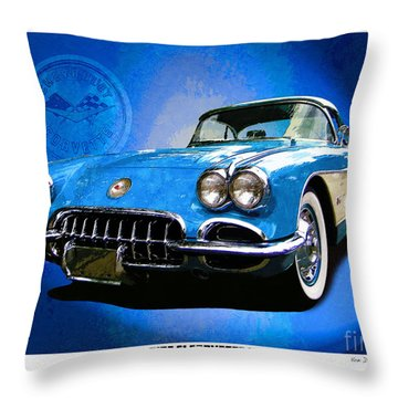 Throw Pillow featuring the photograph Cool Corvette by Kenneth De Tore