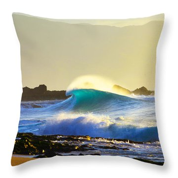 Cool Curl Throw Pillow