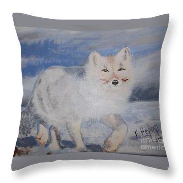 Cool Fox Throw Pillow