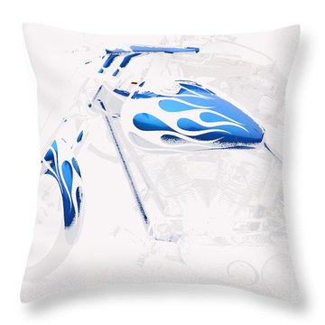 Cool Motorcycle Throw Pillow