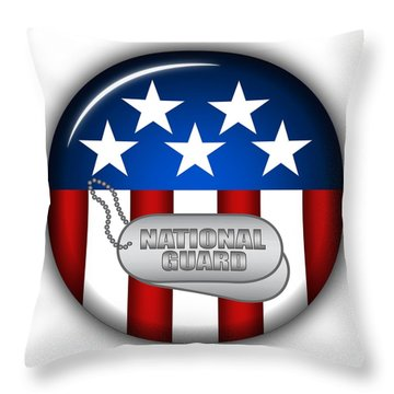 Cool National Guard Insignia Throw Pillow by Pamela Johnson
