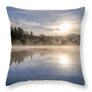 Cool November Morning Throw Pillow