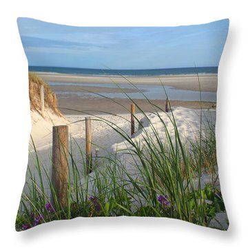 Cool Of Morning Throw Pillow by Dianne Cowen