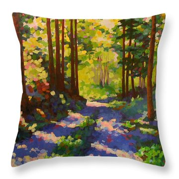 Cool Of The Shade Throw Pillow by Mary McInnis