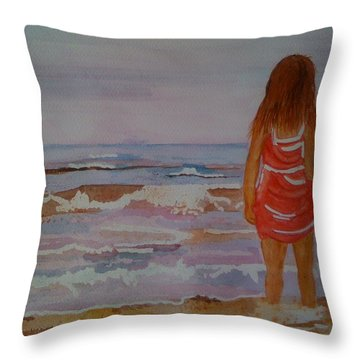 Cool Relief Throw Pillow by Judi Goodwin