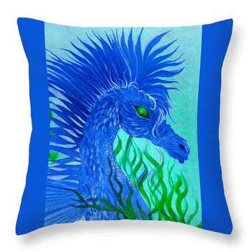 Cool Sea Horse Throw Pillow