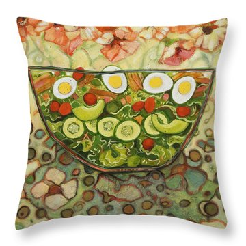 Cool Summer Salad Throw Pillow