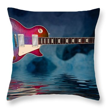 Cool Tiedye Les Paul Throw Pillow
