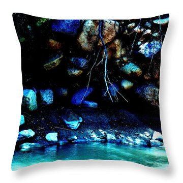 Coal Creek Cedar Canyon Utah Throw Pillow by Deborah Moen