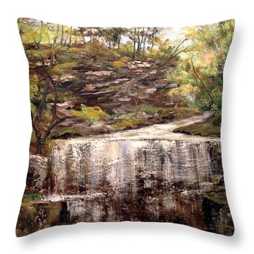 Cool Waterfall Throw Pillow