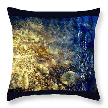 Throw Pillow featuring the photograph Cool Waters...of The Rifle River by Daniel Thompson