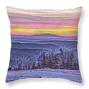 Throw Pillow featuring the photograph Cooper Hill Sunrise II by Tom Singleton