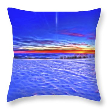 Throw Pillow featuring the photograph Cooper Hill Sunrise by Tom Singleton