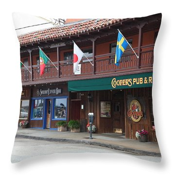 Coopers Pub And Restaurant On Monterey Cannery Row California 5d24774 Throw Pillow