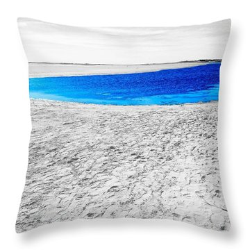Coorong Sandy Bay Throw Pillow
