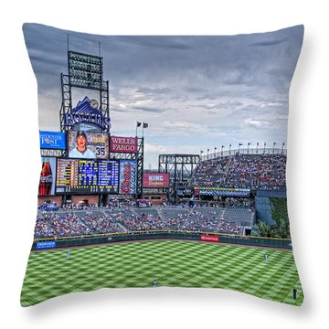 Coors Field Throw Pillow