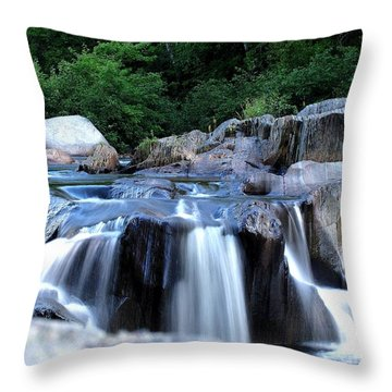 Coos Canyon Maine Throw Pillow by Donnie Freeman