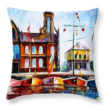 Copenhagen Denmark 3 Throw Pillow by Leonid Afremov