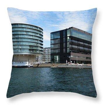Throw Pillow featuring the photograph Copenhagen Harbour by Susanne Baumann