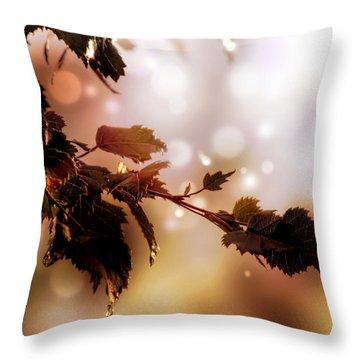 Copper Birch Throw Pillow