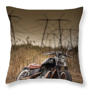 Copper Chopper Throw Pillow